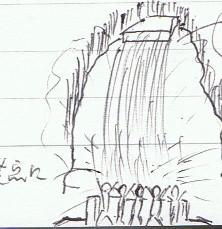 熱湯の大瀑布
