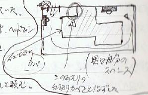 部屋の俯瞰図