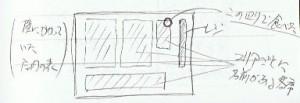 喫茶店の俯瞰図