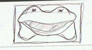 ズームアップのカエル