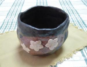 抹茶茶碗(桜花びら)