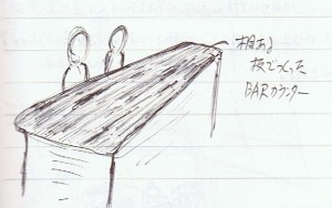 手作りBAR風カウンター