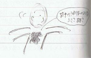 背中の痣(あざ)